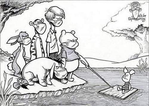 мечо пух и другите гонят прасчо